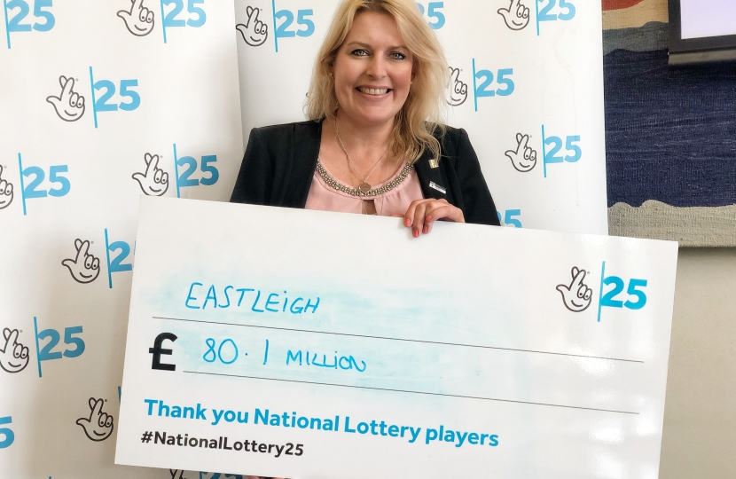 Mims Davies National Lottery