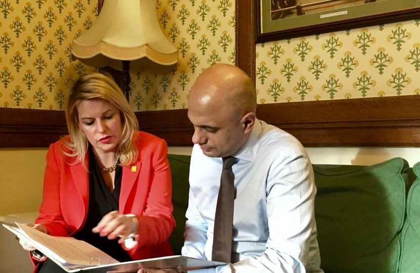 Mims Davies and Sajid javid